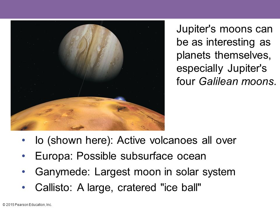 Jupiter s moons can be as interesting as planets themselves, especially Jupiter s four Galilean moons.