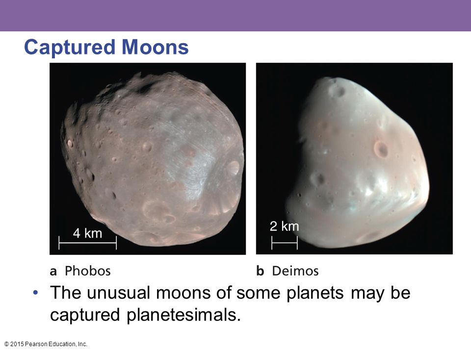 Captured Moons The unusual moons of some planets may be captured planetesimals.