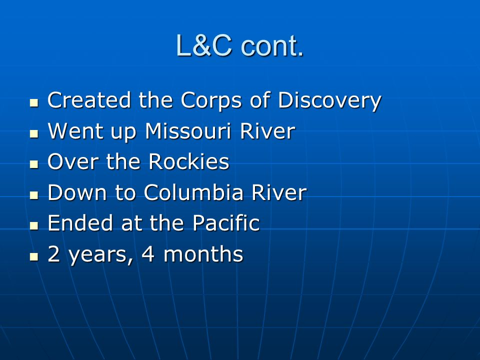 Corps of Discovery to Missouri Compromise Lewis and Clark