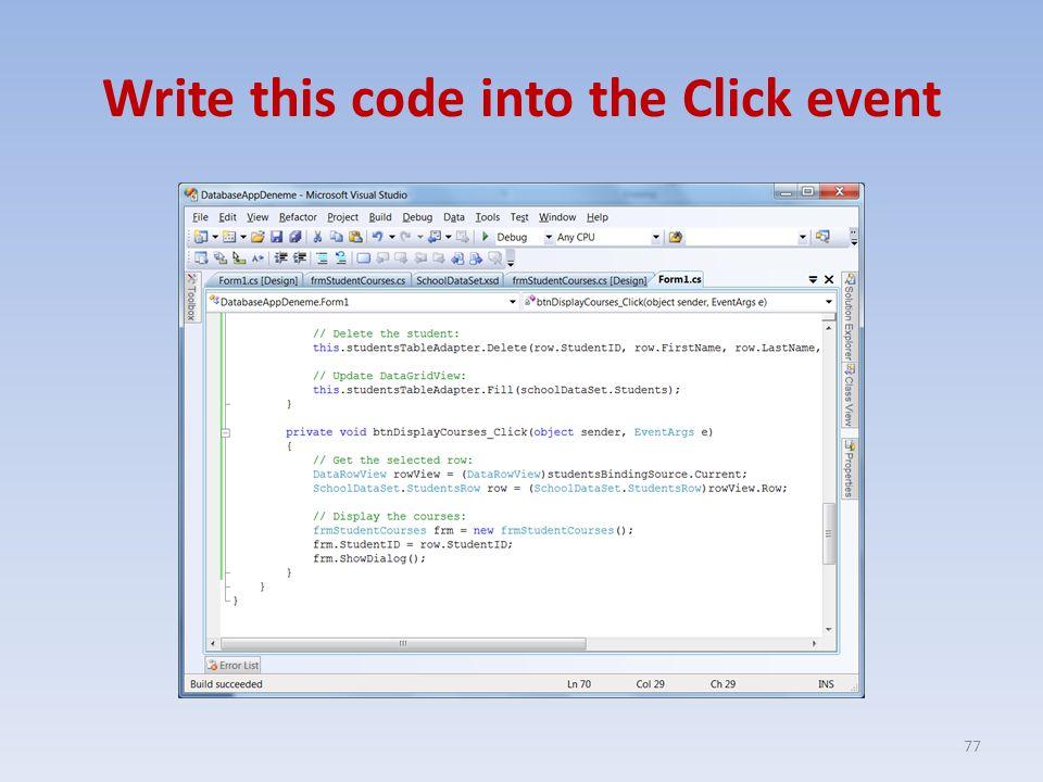 BIM211 – Visual Programming Database Operations II ppt download