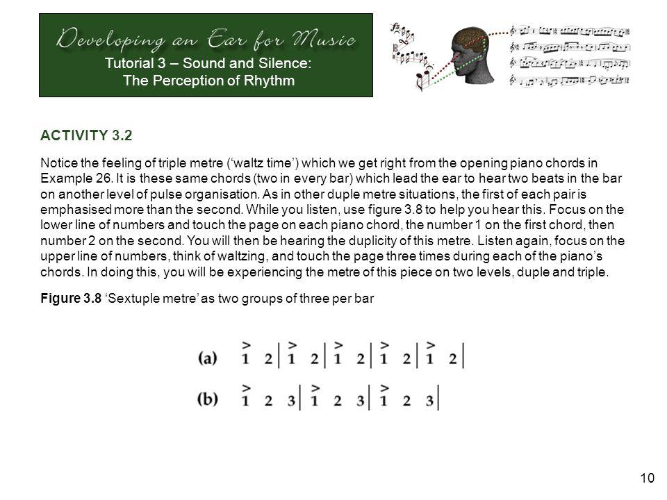 Tutorial 3 Sound And Silence The Perception Of Rhythm 1