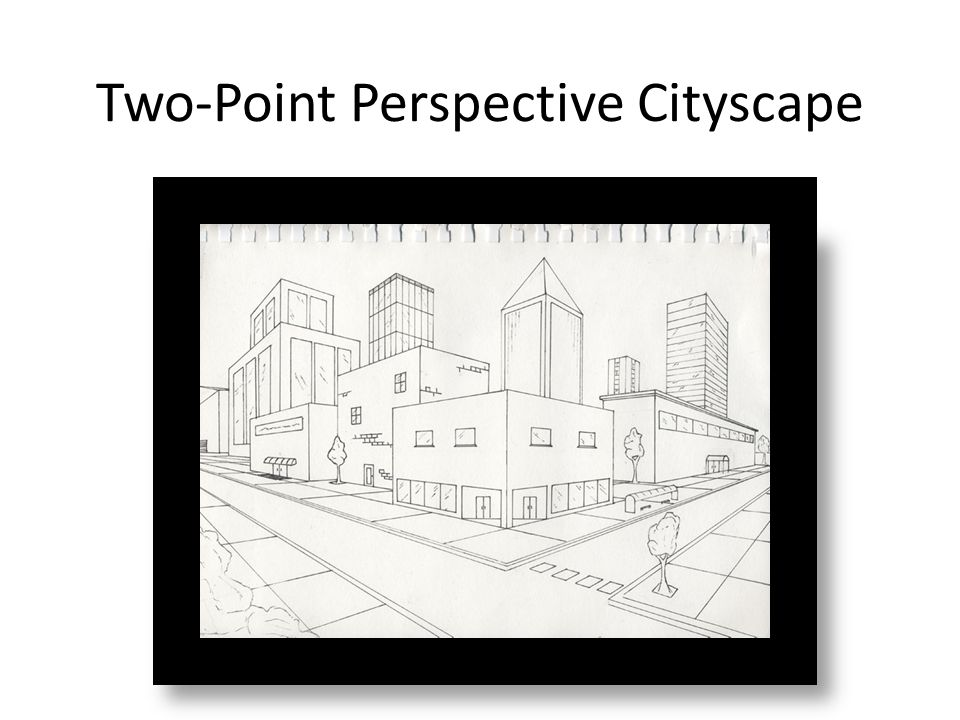 two point perspective cityscape objective to create a cityscape