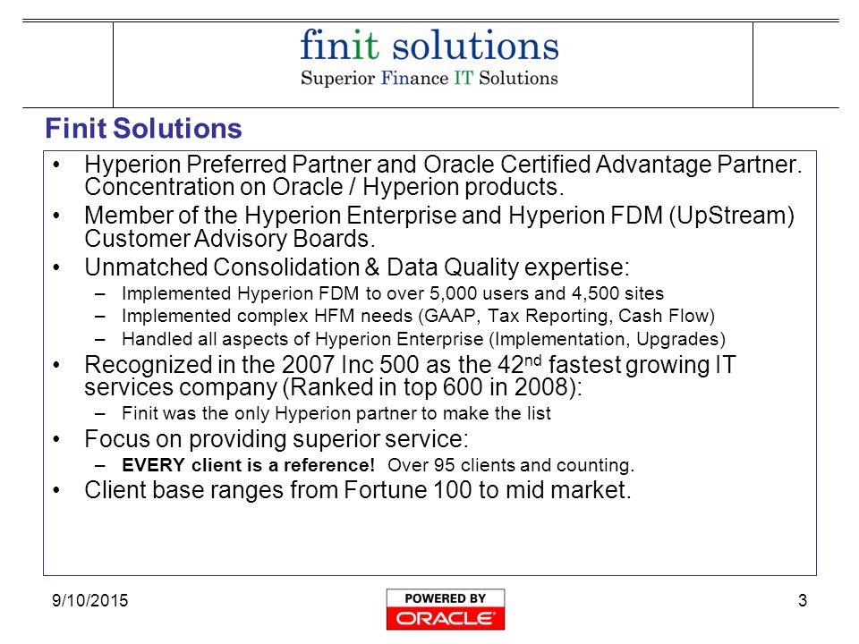 9/10/20151 Hyperion Enterprise 6 5 New Features