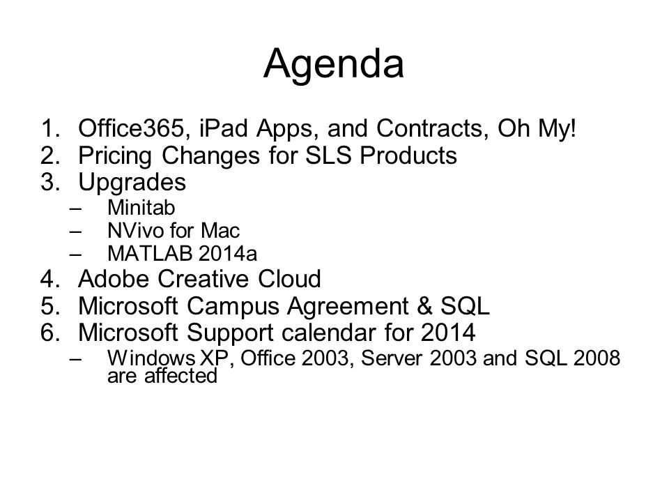 Site License Advisory Team March 31, 2014 meeting  - ppt
