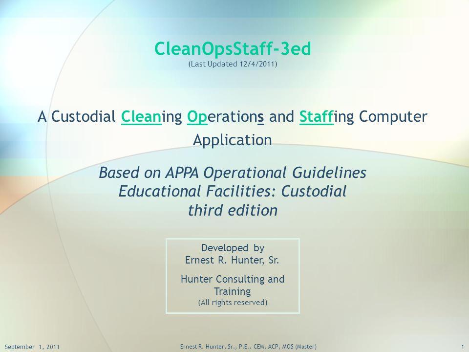 cleanopsstaff 3ed last updated 12 4 2011 a custodial cleaning rh slideplayer com