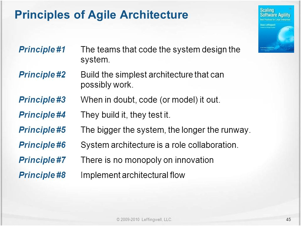 Leffingwell, LLC  Scaling Software Agility: Best Practices