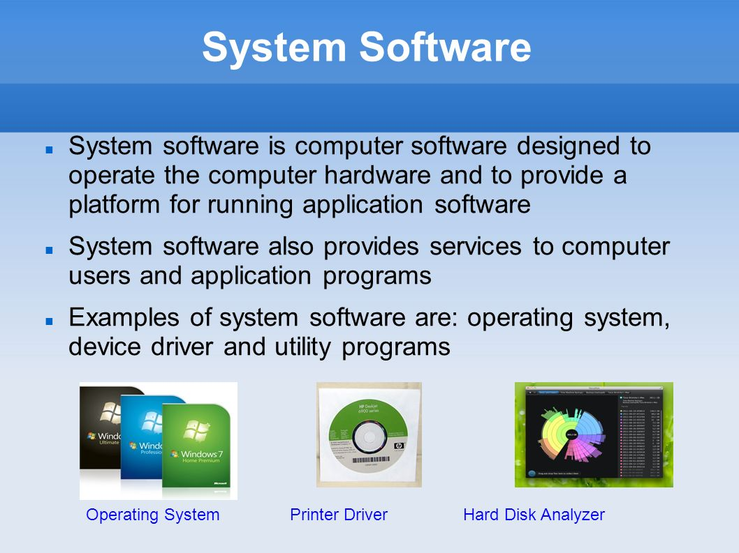 type of software there are two main types of software they are