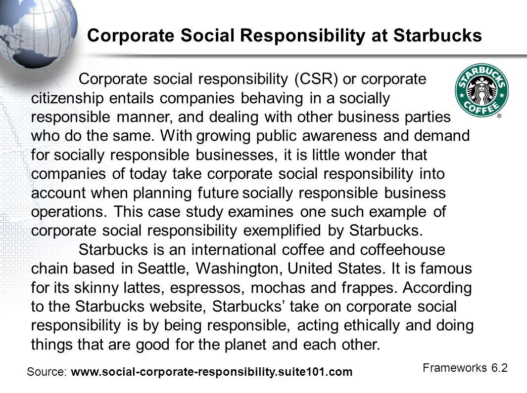 starbucks ethics and social responsibility