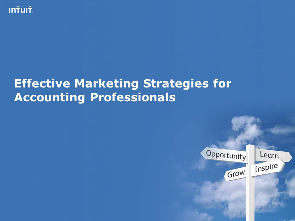 Intuit Canada ULC Effective Marketing Strategies for Accounting Professionals