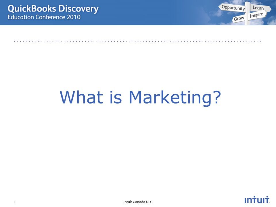 Intuit Canada ULC What is Marketing 1