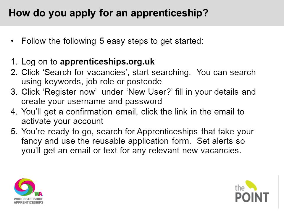 How do you apply for an apprenticeship.