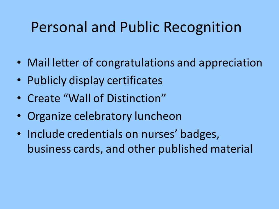 Recognition of nursing excellence what is certification 24 personal reheart Gallery