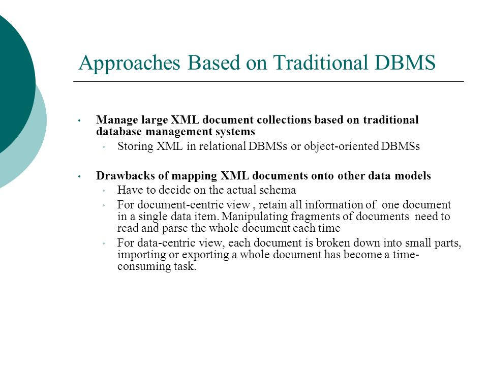 Anatomy Of A Native Xml Base Management System By Yaojun Wu Ppt