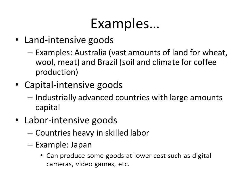 Examples of human capital intensive industries by measure.