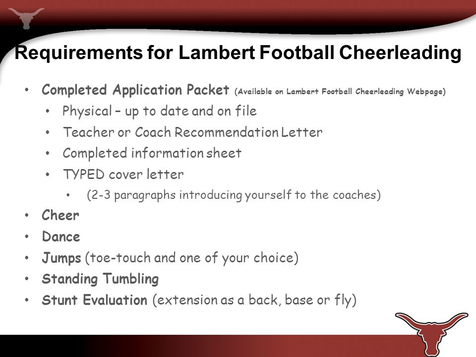Lambert cheerleading expectations follow all rules stated by the lhs 6 requirements for lambert football cheerleading altavistaventures Gallery