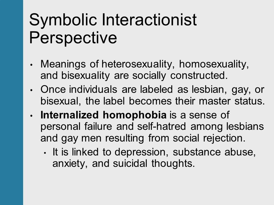 Sociologist perspective on homosexuality