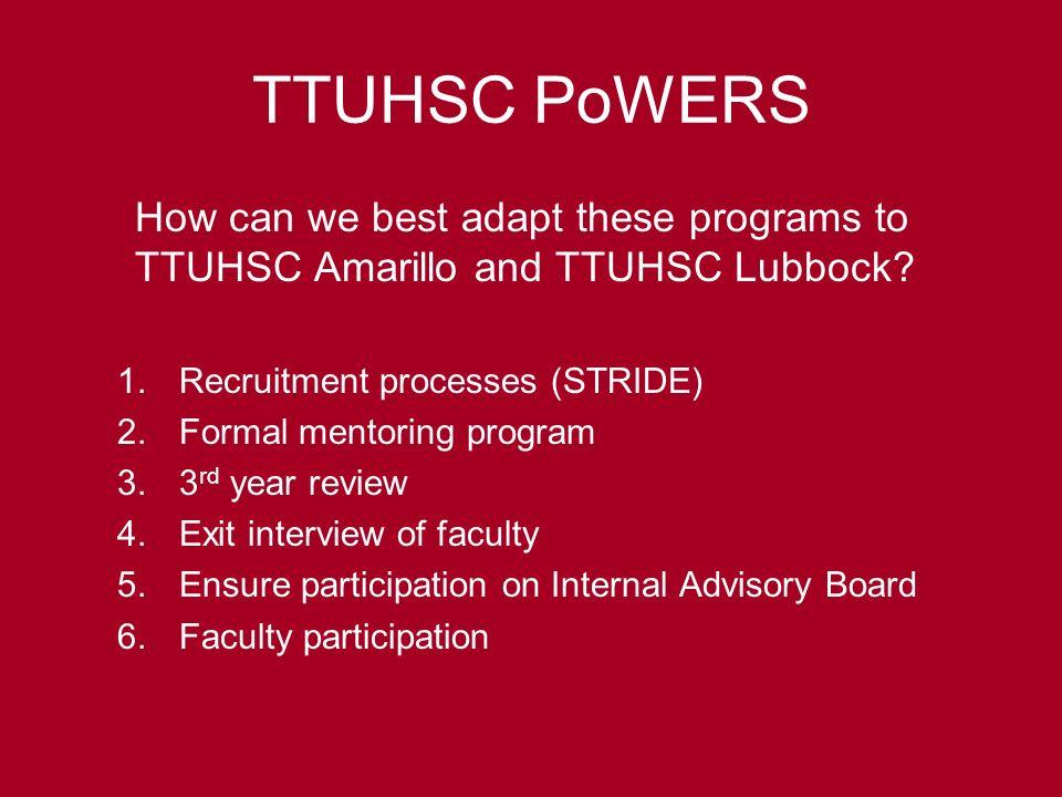 Increasing Faculty Diversity TTUHSC Stephanie Leeper, MD