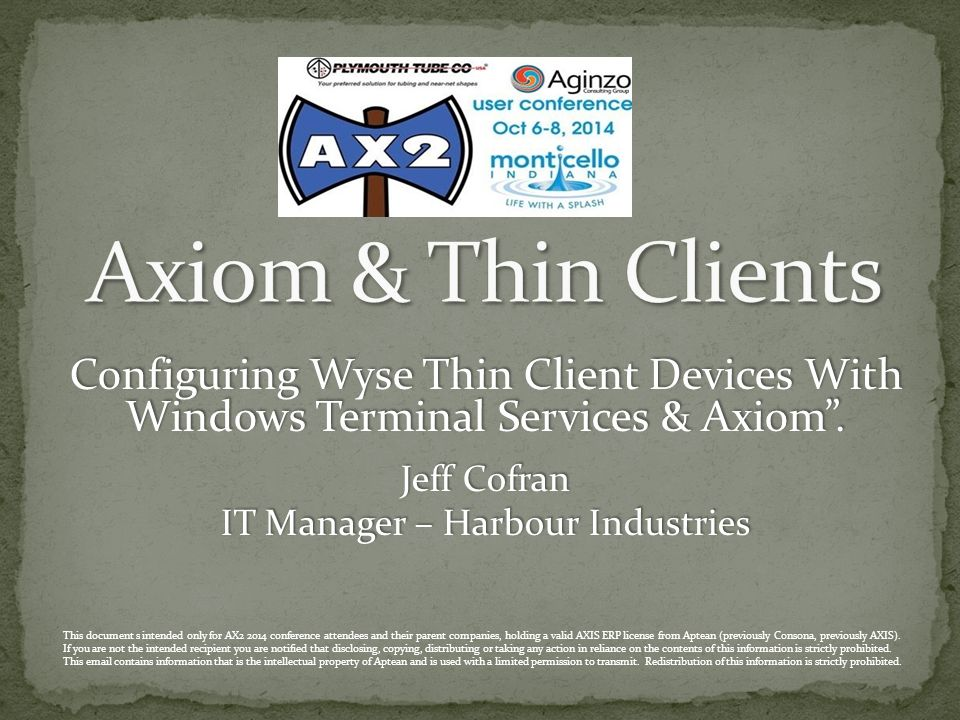 Configuring Wyse Thin Client Devices With Windows Terminal Services