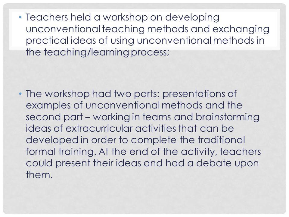 unconventional teaching methods