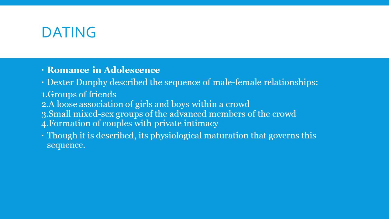 mixed-gender groups dating and romantic relationships in early adolescence