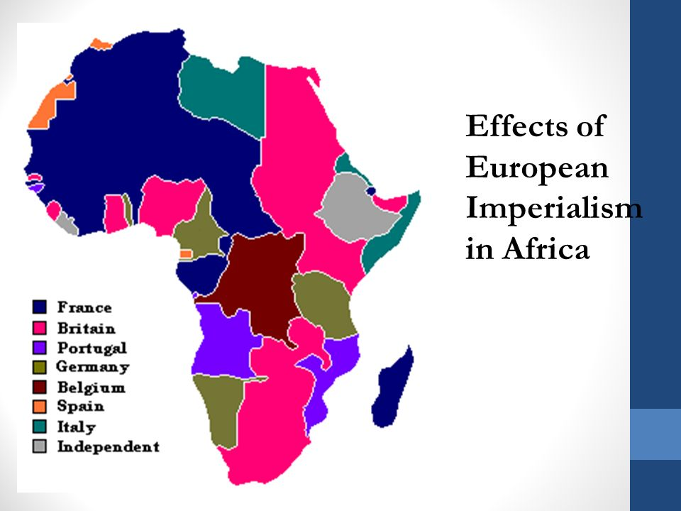 Effects of European Imperialism in Africa