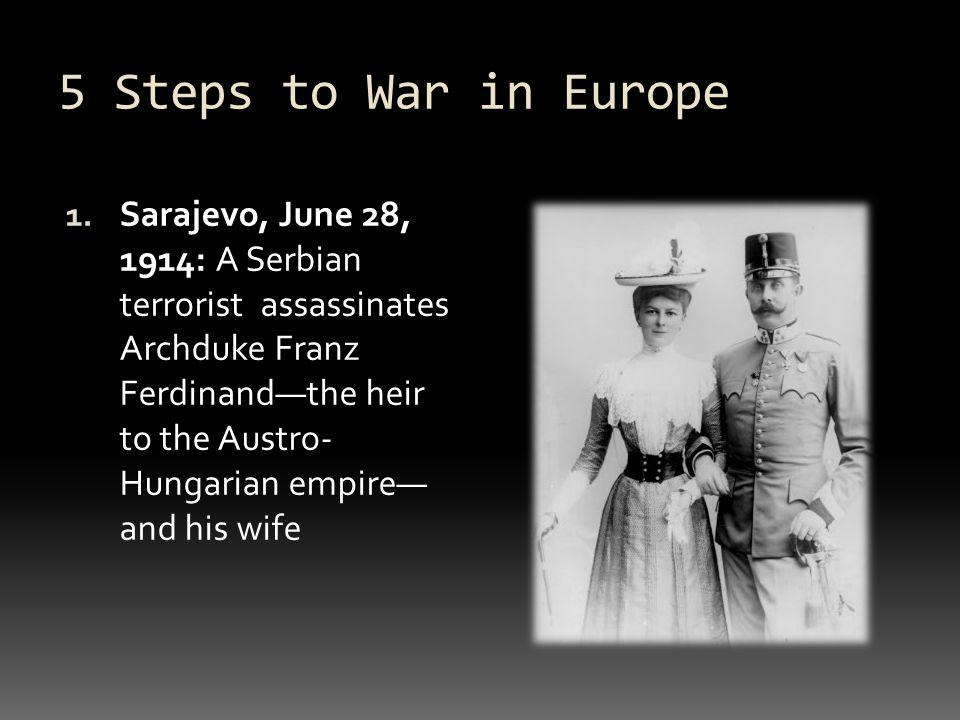 Unit Steps To War In Europe 1 Sarajevo June 28 1914 A