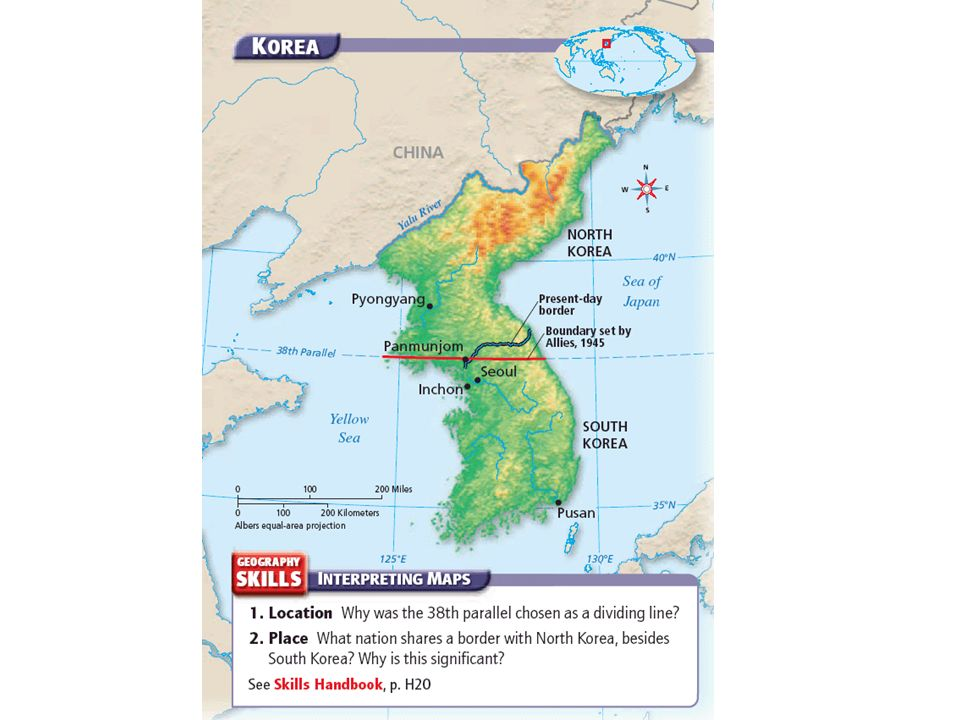Exploring american history unit x post war america chapter 27 6 korea before the war after world war ii japanese occupied korea was temporarily divided into northern and southern parts soviet union controlled korea gumiabroncs Image collections