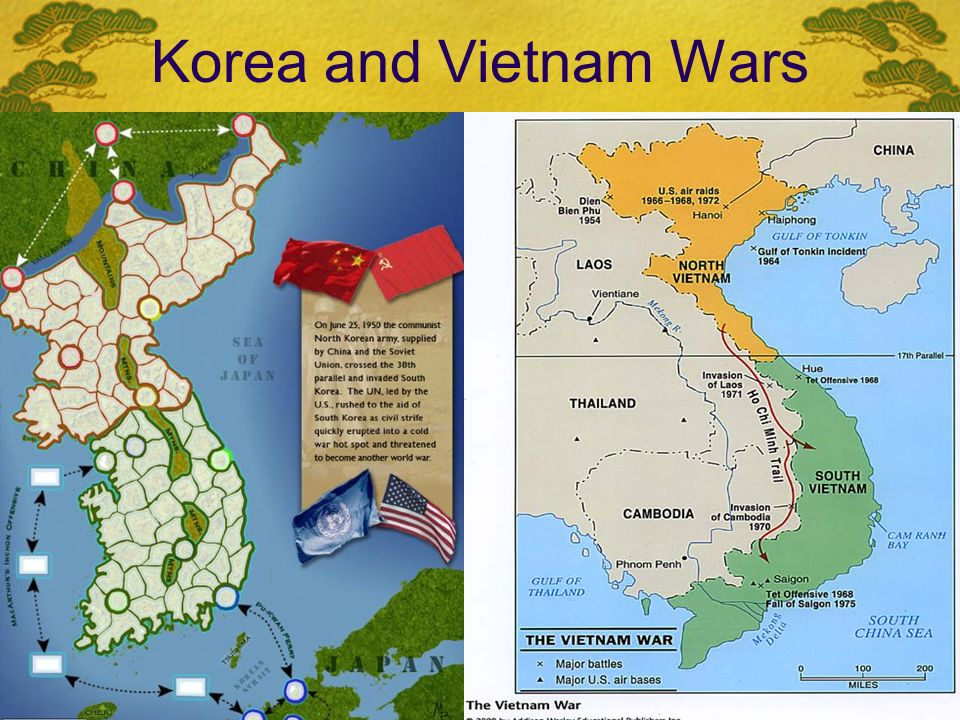 Korea and Vietnam Wars.  Communism spreads to China in ...