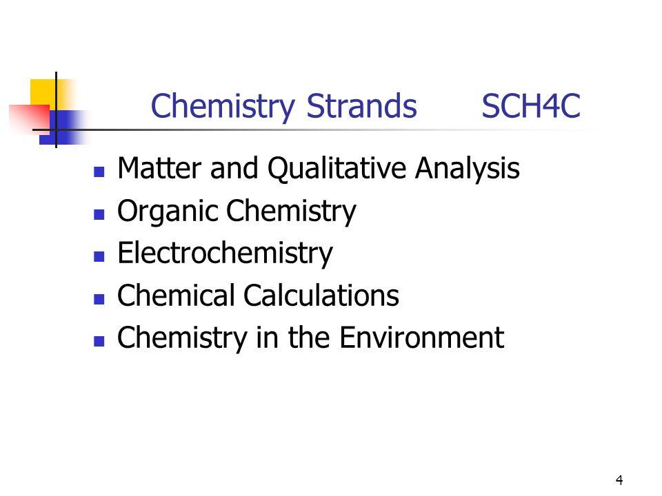 1 Science Grade 12 College Preparation Courses Chemistry SCH4C
