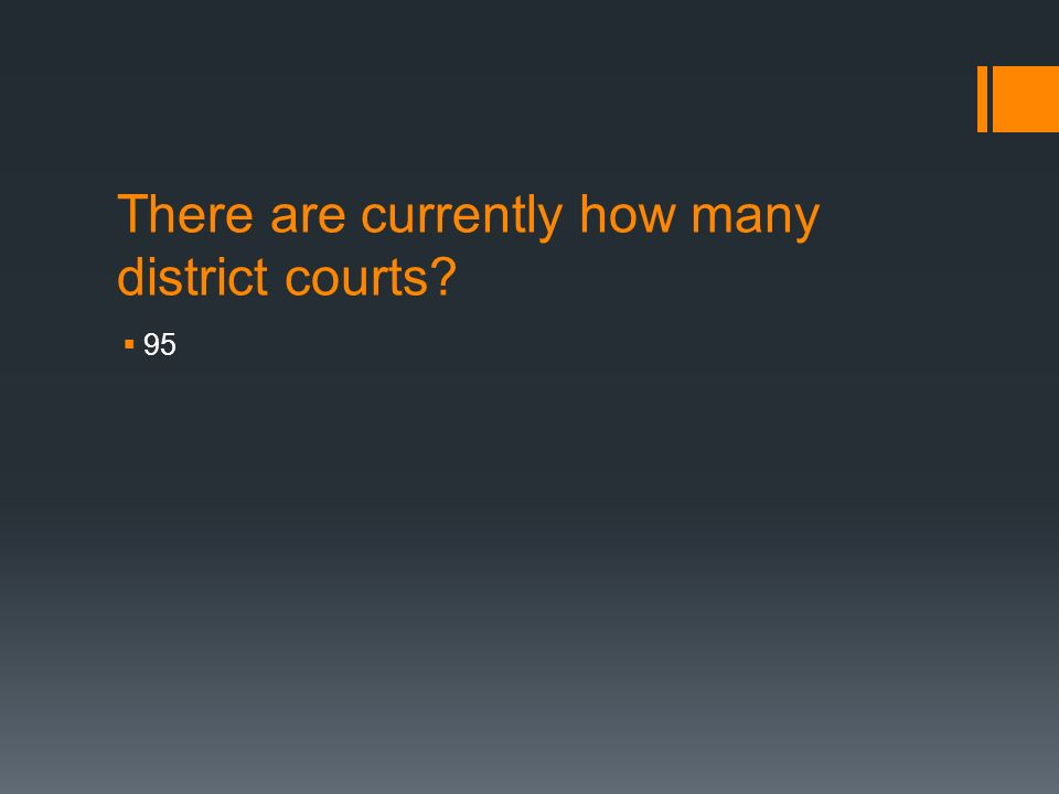 There are currently how many district courts  95