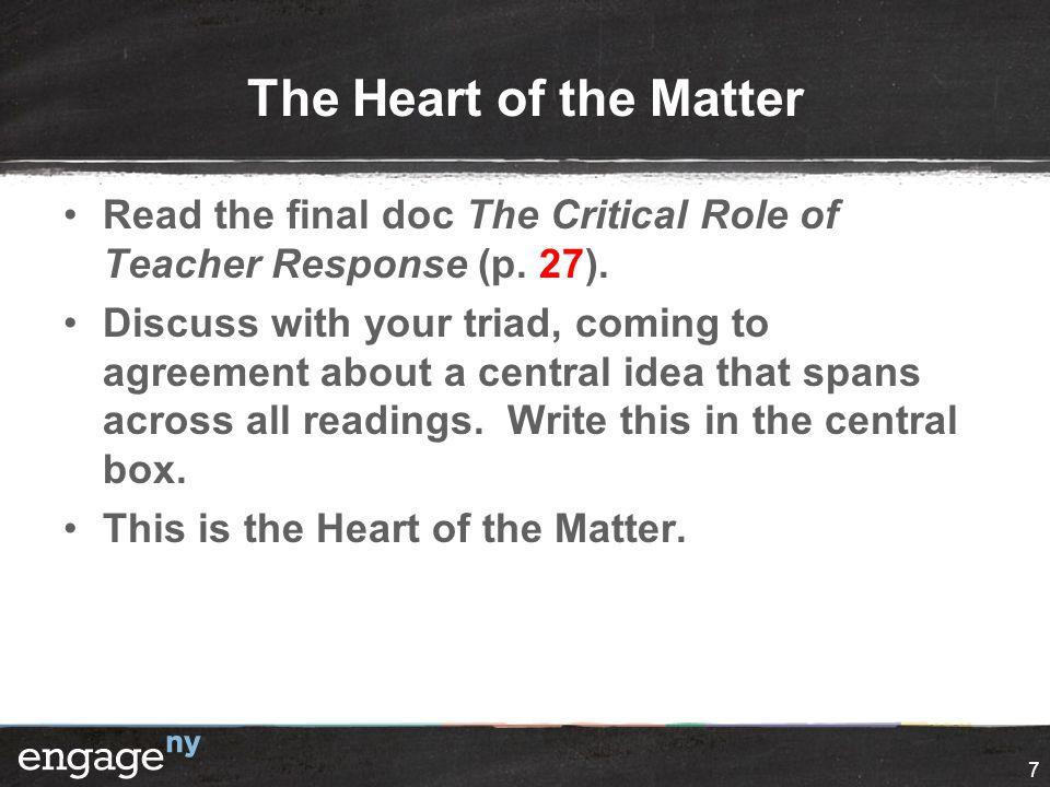 The Power Of Teacher Response Experienced With Nti Teacherscoaches
