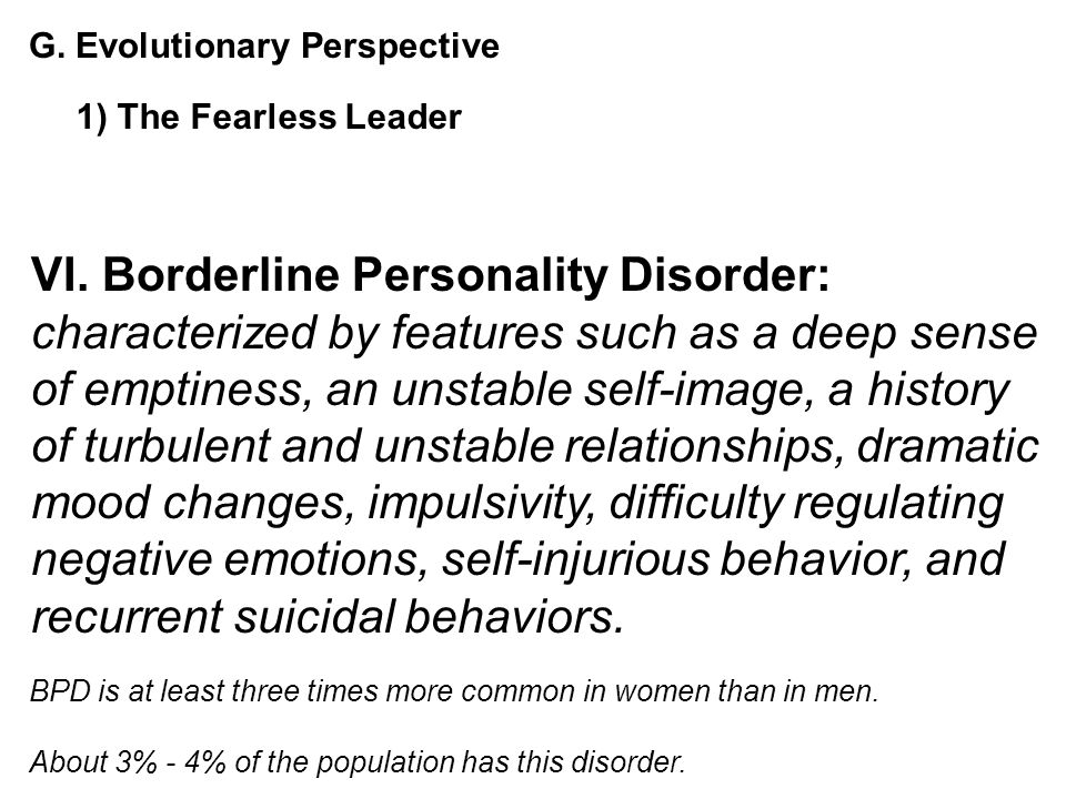 Personality & Impulse-Control Disorders  I  Personality: the