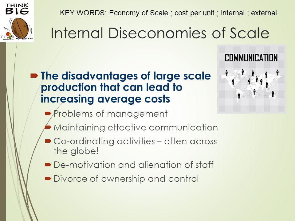internal diseconomies of scale definition