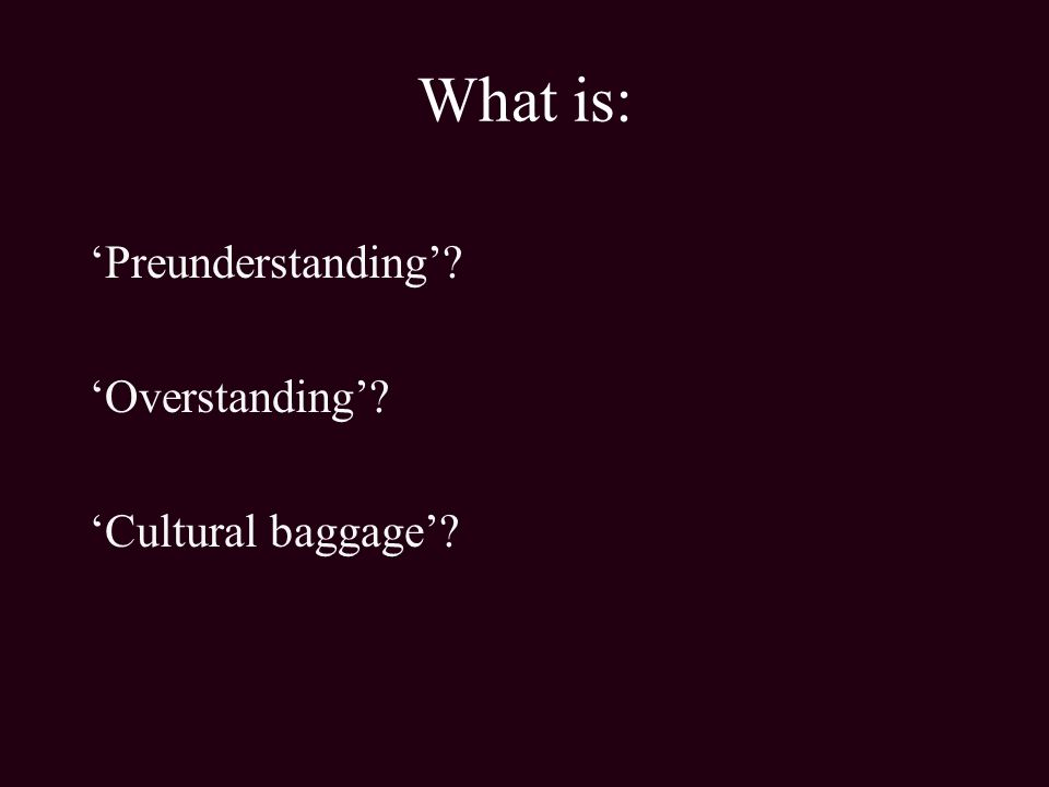 cultural baggage meaning