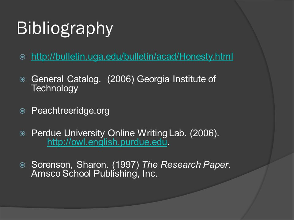 Bibliography       General Catalog.