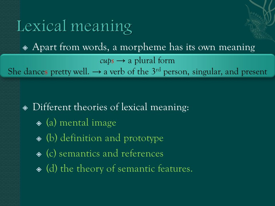 theory of meaning People construct meaning on the basis of exchanging rules history and orientation pearce and cronen (1980) developed the coordinated management of meaning (cmm) theory.