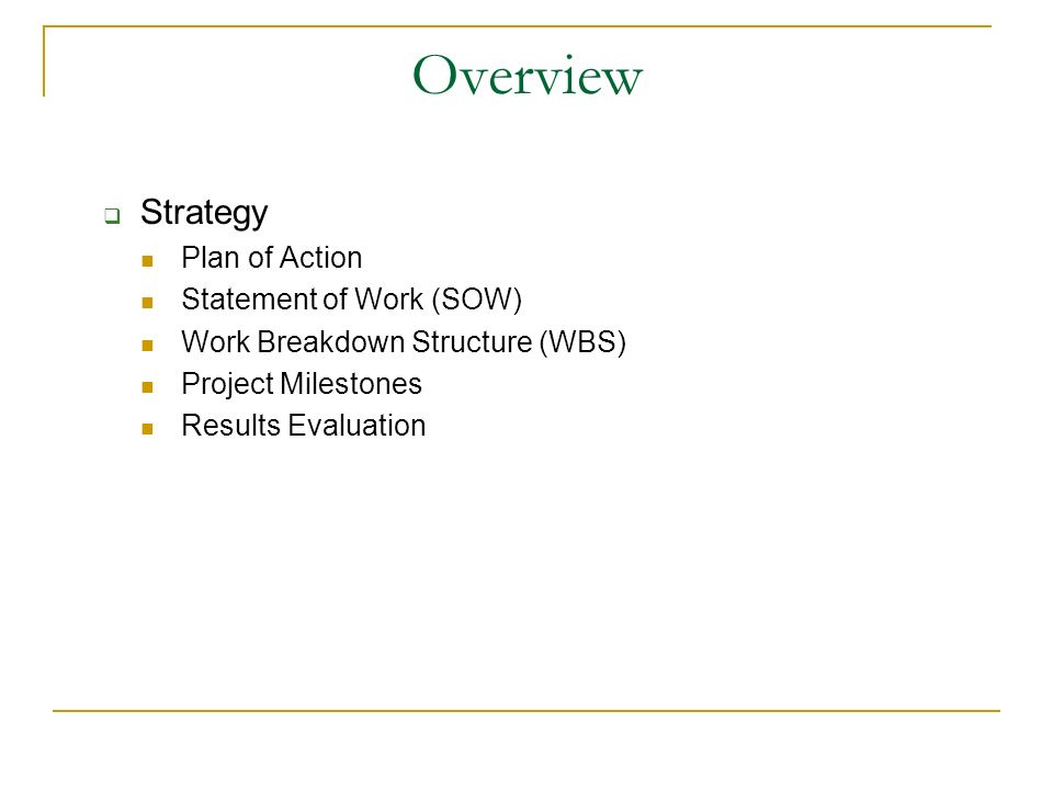 statement of the work sow by wilmer arellano fiu spring ppt download
