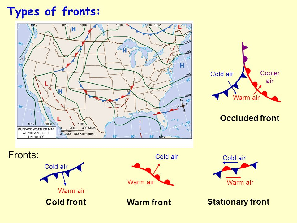 Stationary Front On A Weather Map.Nats 101 Lecture 2 Basic Weather Symbols And Fronts Ppt Download