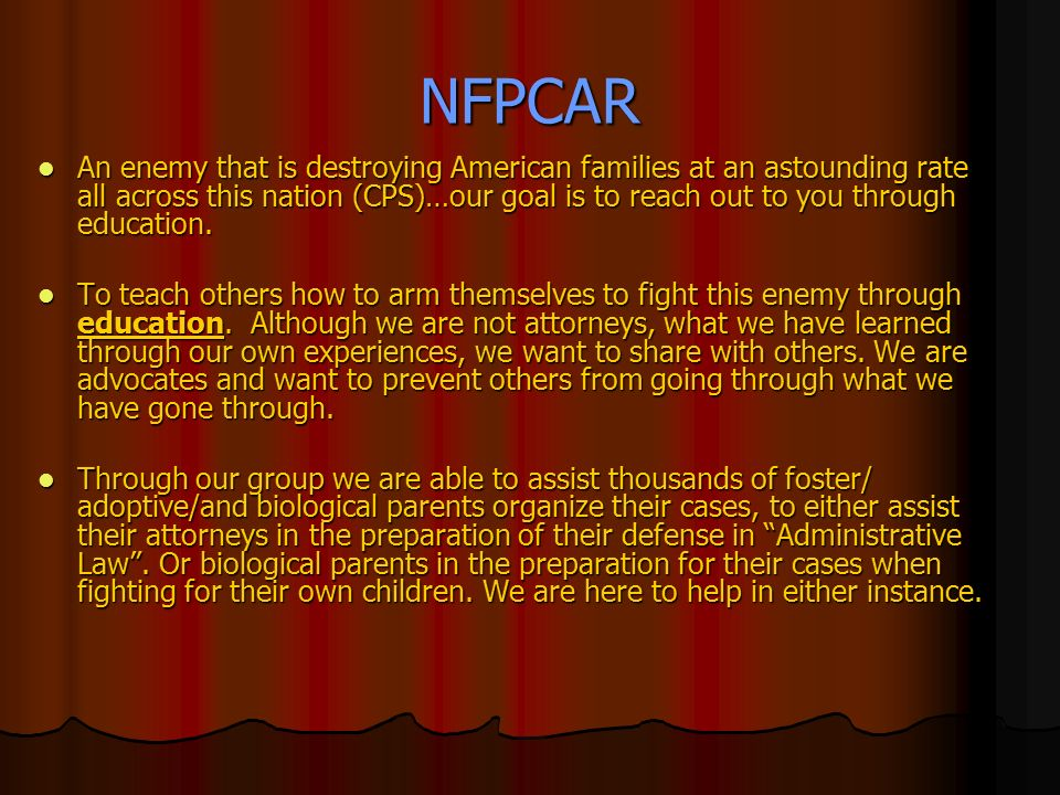 Foster/Adoptive/ Biological Parents On LINE Crisis Intervention