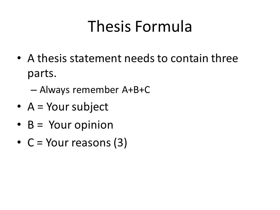 Apush Dbq Thesis Formula - Thesis Title Ideas For College