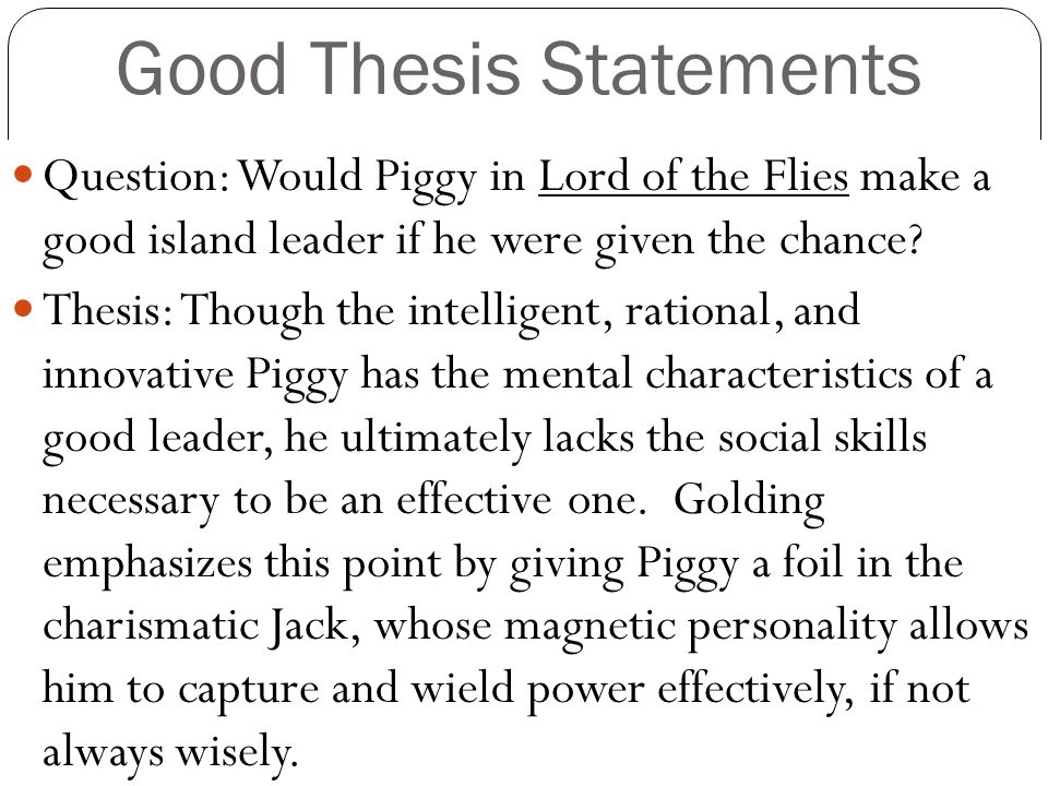 Essay on Ralph is the Best Leader in Lord of the Flies