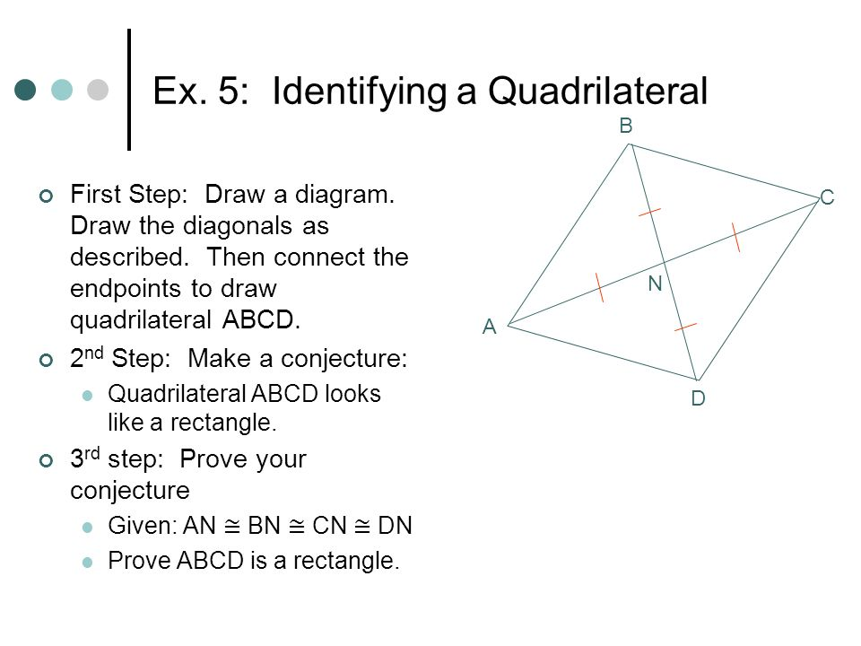 66 special quadrilaterals geometry ms reser objectives identify ex 5 identifying a quadrilateral first step draw a diagram ccuart Image collections