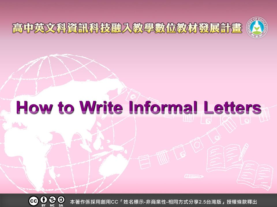 How to write informal letters the purpose of informal letters to 1 how to write informal letters altavistaventures Image collections