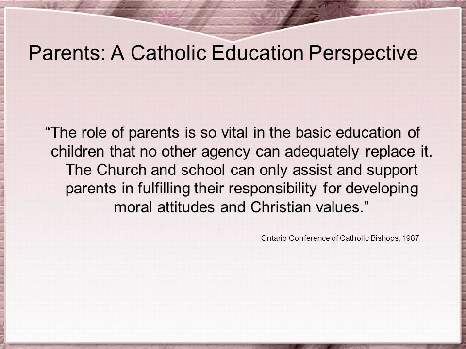 Resposibilities of a christian catholic in a