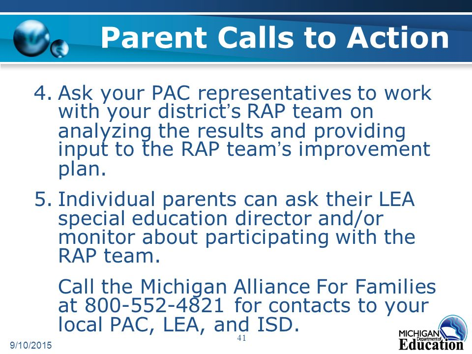Procedural Safeguards Michigan Alliance For Families >> Parent Involvement In Michigan Schools What Is Meaningful Parent