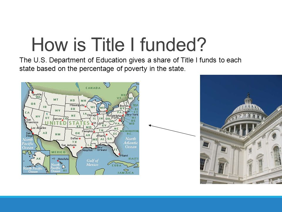How is Title I funded. The U.S.