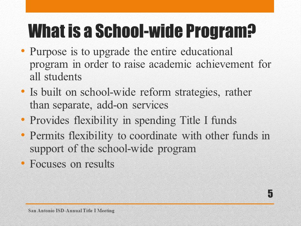 What is a School-wide Program.