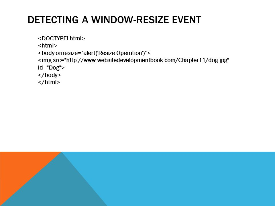 DETECTING A WINDOW-RESIZE EVENT