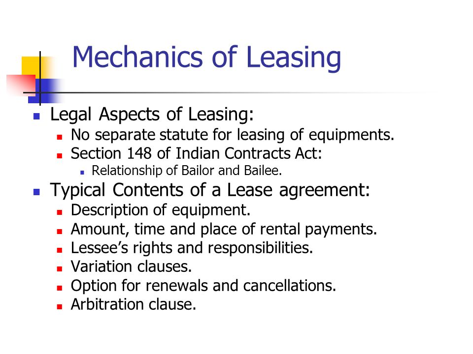 Lecture 12 Lease Financing It Has Emerged As A Supplementary Source