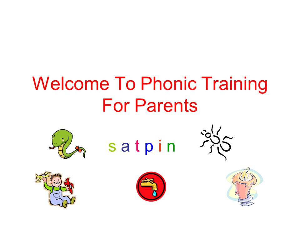 Welcome To Phonic Training For Parents s a t p i ns a t p i n